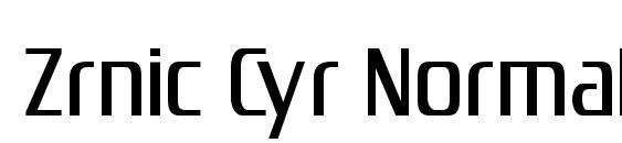 Zrnic Cyr Normal Font