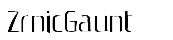 ZrnicGaunt Font