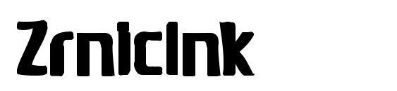 ZrnicInk Font