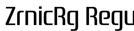 ZrnicRg Regular Font, Elegant Fonts
