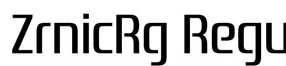 ZrnicRg Regular Font