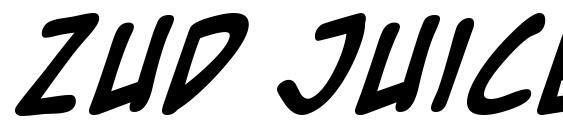 Zud Juice Bold Font, Fun Fonts