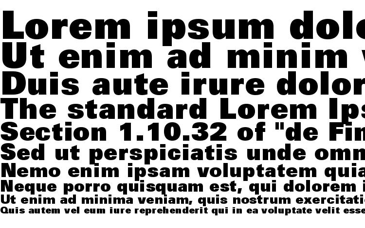 specimens Zurich Extra Black BT font, sample Zurich Extra Black BT font, an example of writing Zurich Extra Black BT font, review Zurich Extra Black BT font, preview Zurich Extra Black BT font, Zurich Extra Black BT font