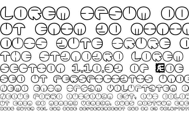 specimens Zurklez Outline (BRK) font, sample Zurklez Outline (BRK) font, an example of writing Zurklez Outline (BRK) font, review Zurklez Outline (BRK) font, preview Zurklez Outline (BRK) font, Zurklez Outline (BRK) font