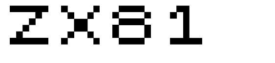 ZX81 Font