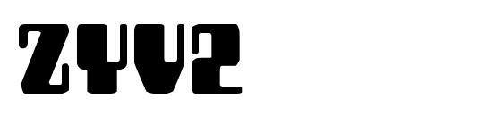 Zyv2 Font, Fun Fonts
