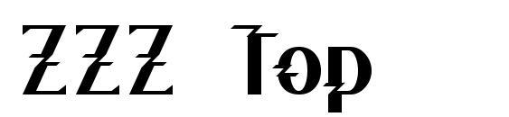 ZZZ Top Font, Monogram Fonts