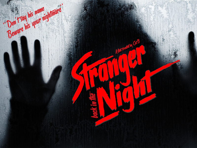 Illustration Stranger back in the Night Font, The Image Stranger back in the Night Font