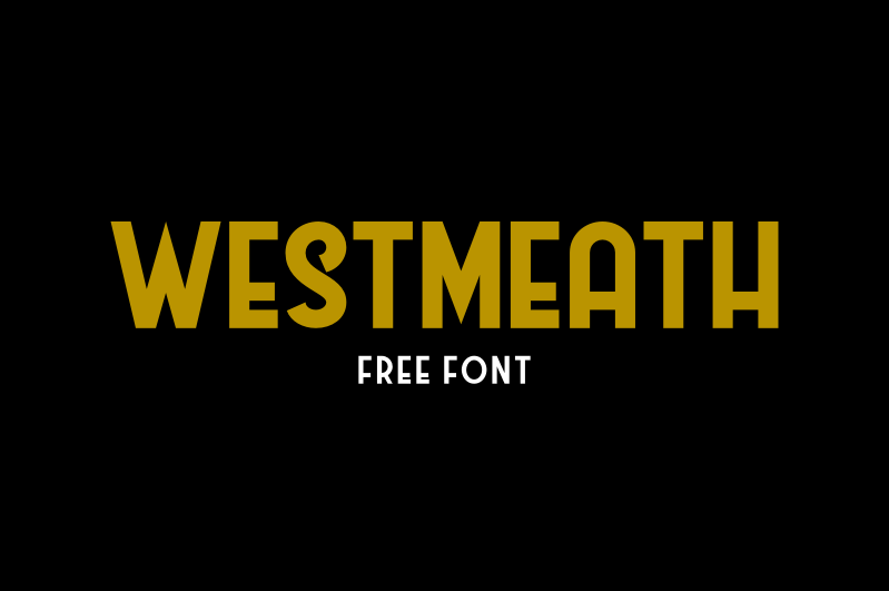 Illustration Westmeath Font, The Image Westmeath Font